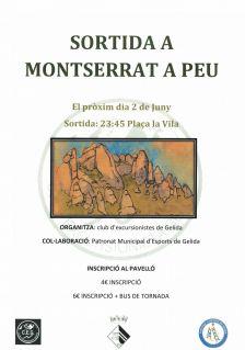 Pujada a peu a Montserrat des de Gelida