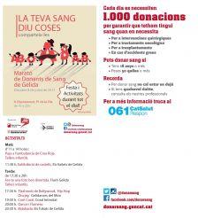 Activitats Marató de donació de Sang de Gelida