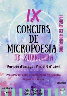 IX CERTAMEN MICROPOESIA JOAN BAPTISTA XURIGUERA