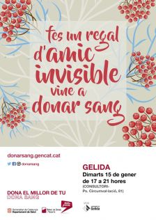 Tens un regal d'amic invisible, vine a donar sang
