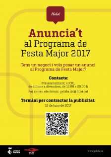Oberta convocatòria anuncis Programa Festa Major