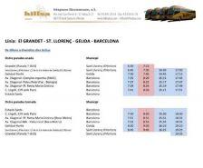 El servei de bus Sant Llorenç-Gelida-Barcelona